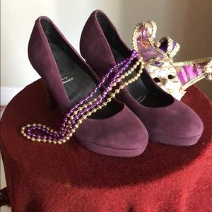 Rockport suede platform heels